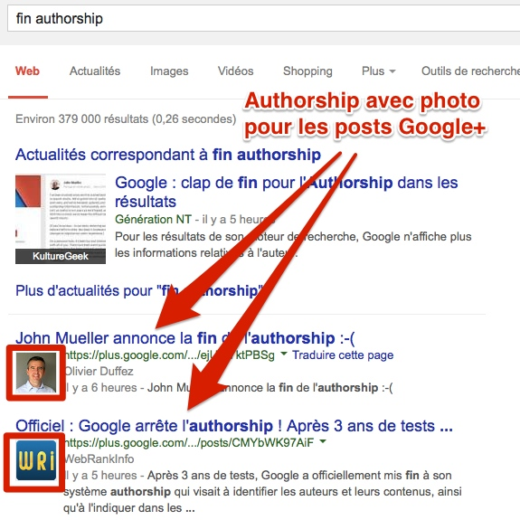 Authorship posts Google Plus