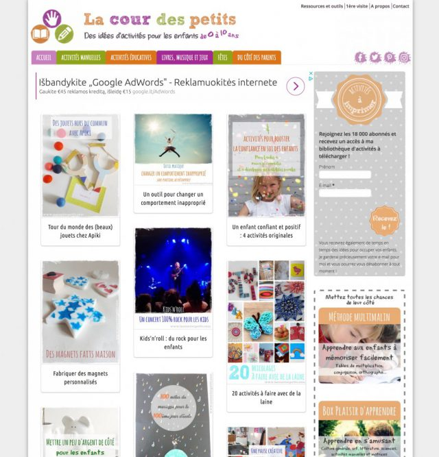 design blog enfants