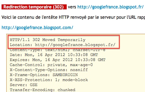 Blogspot.com redirige vers blogspot.fr