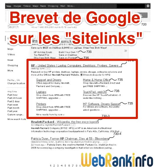 Brevet Google sitelinks
