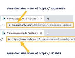 Astuce pour afficher l'URL complète dans Chrome