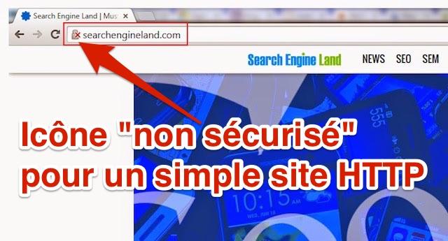 Chrome HTTP non sécurisé