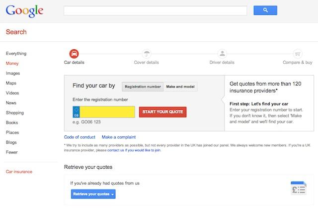 Comparateur Google d'assurance auto