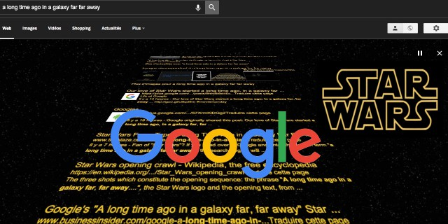Easter Egg Google générique Star Wars