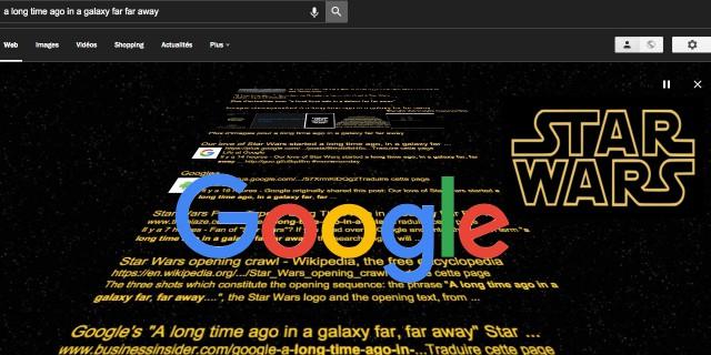 Easter Egg Google générique Star Wars