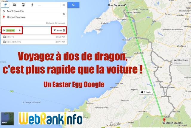 Easter Egg dragon Google Maps