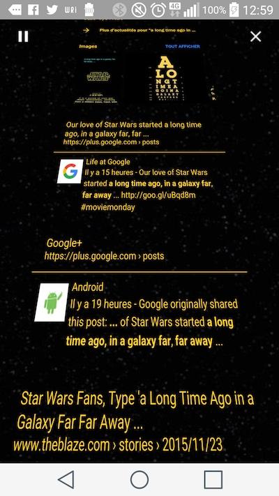 Easter Egg Google: a long time ago in a galaxy far far awayEaster Egg Google: a long time ago in a galaxy far far away