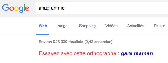 Easter egg Google anagramme