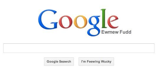 Easter Egg Google Elmer Fudd