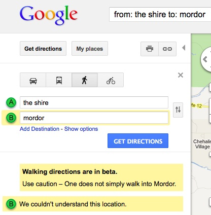 Easter egg Google : le Mordor