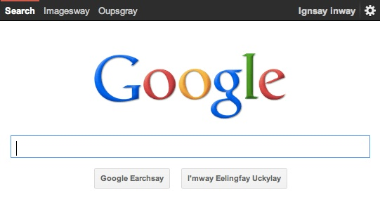 Easter Egg Google Pig Latin