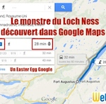 Easter Egg Loch Ness Google Maps