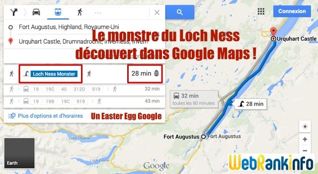 Easter Egg monstre Loch Ness-google-maps