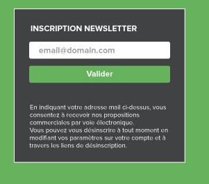 Formulaire d'inscription compatible RGPD