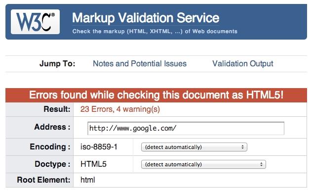Erreurs validation W3C et SEO