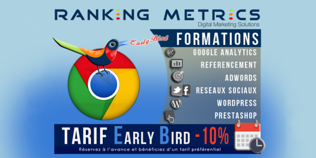 Tarif réduit Early bird Ranking Metrics