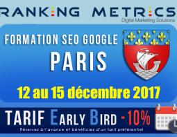 Formation SEO Paris décembre 2017