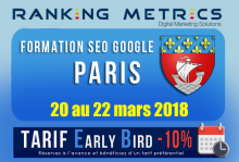 Formation SEO Paris mars 2018