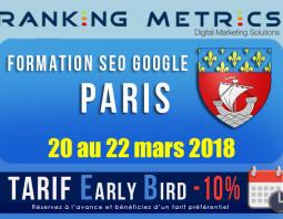 Formation SEO Paris mars 2018