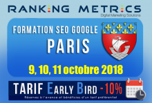 Formation SEO Paris octobre 2018