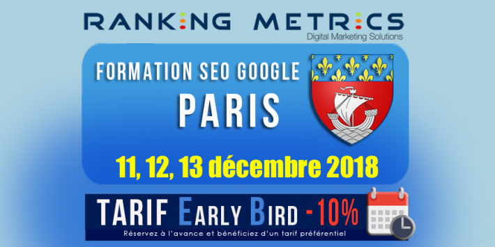 Formation SEO Paris décembre 2018