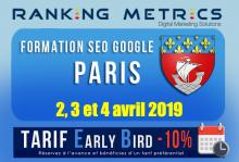 Formation SEO Paris avril 2019