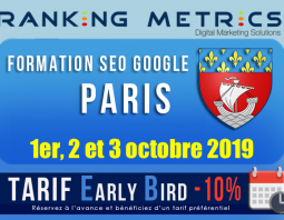 Formation SEO Paris octobre 2019