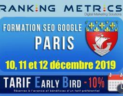 Formation SEO Paris décembre 2019