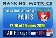 Formation SEO Paris mars 2020