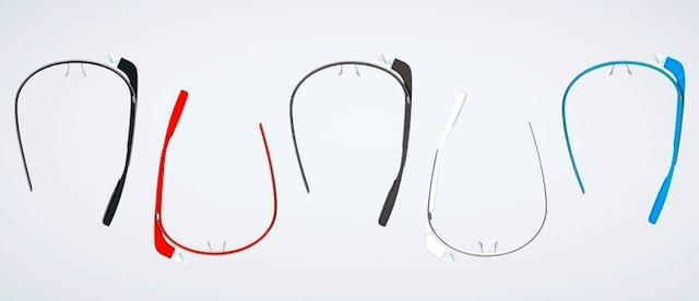 5 couleurs pour Google Glass