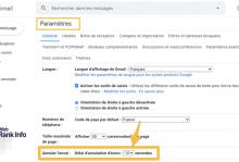 Durée annulation envoi Gmail