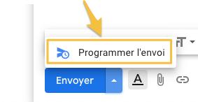 Programmer envoi Gmail