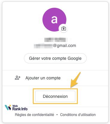déconnexion Gmail / Google
