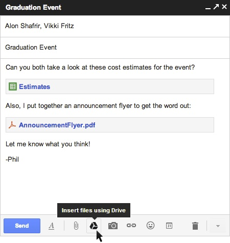 Gmail document attaché dans Drive
