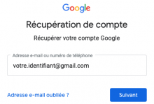comment récupérer son compte Google/Gmail