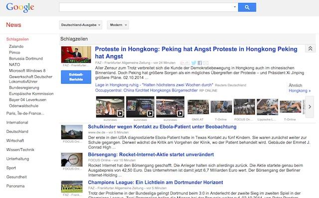 Google Actu Allemagne