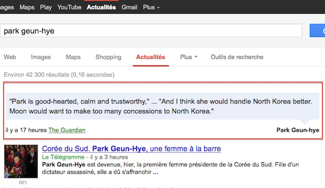 Citations dans Google Actu