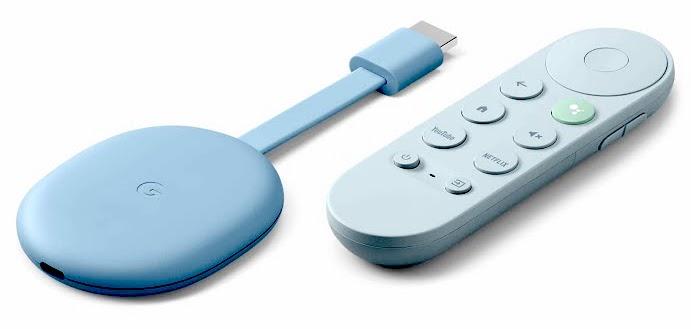 Google Chromecast TV bleu ciel