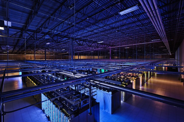 Google data center : intérieur