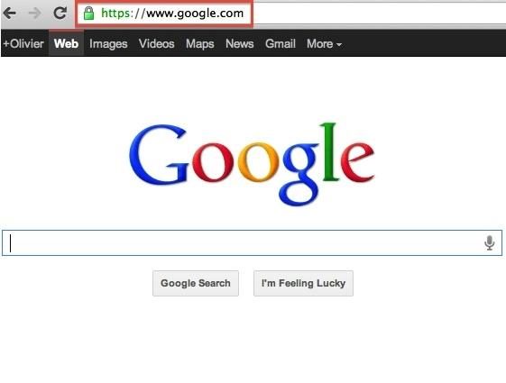 Google.com en HTTPS (SSL)