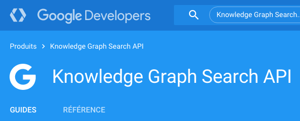 Google Knowledge Graph Search API