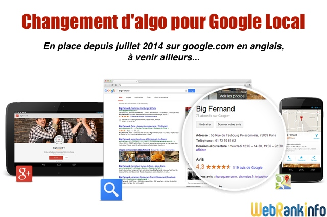 Changement d'algo Google Local (Pigeon)