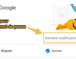changer le mot de passe Google