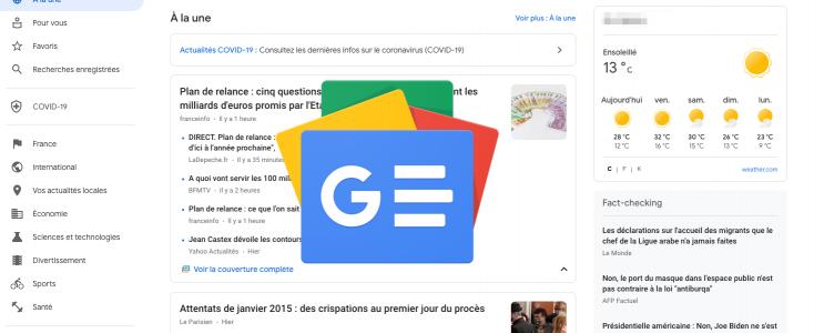 Google News à la une