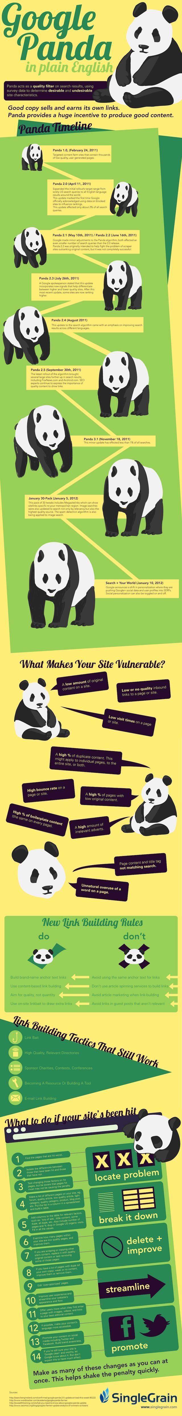 Infographie sur Google Panda