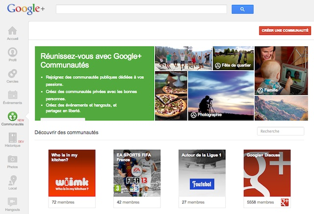 Google Plus Communautes