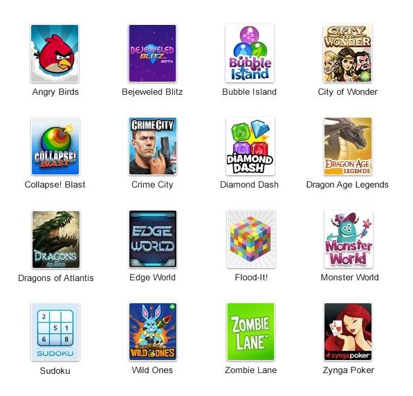 Les premiers jeux pour Google Plus