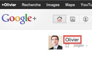 Google+ : lien vers votre profil perso
