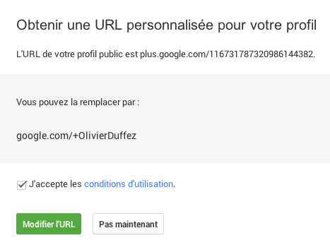 URL personnalisée : début
