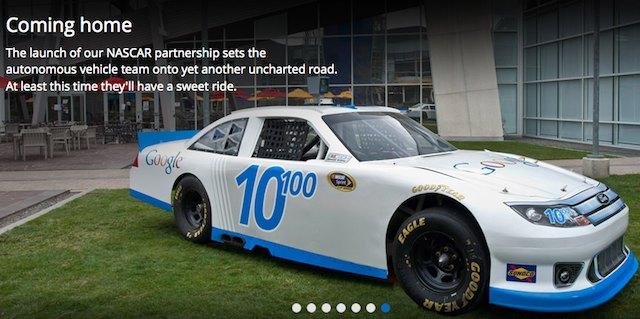 La voiture Google Racing au Googleplex